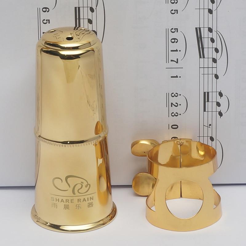 Share Rain Hard Rubber Mouthpiece Appropriative Metal Ligature And Cap Eb Alto Bb Soprano Tenor Saxphone Bb Clarinet