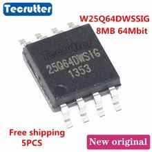 5PCS W25Q64DWSSIG 25Q64DWSIG 8MB 64 מגה ביט 25Q64 W25Q64 1.8V SOIC8 SPI פלאש