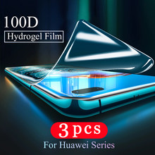 3Pcs 9D soft full cover hydrogel film for huawei P20 P30 P40 lite E P40 pro plus protective Not Glass phone screen protector