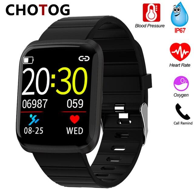 Reloj inteligente IP67 para Android IOS, reloj inteligente deportivo resistente al agua con control del ritmo cardíaco y del oxígeno para hombre y mujer