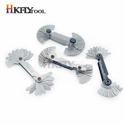 Screw Gauge Set Whitworth 55 Degree & Metric 60 Degree Grip Whitworth Screw Thread Pitch Gauge Measuring Gauging Tools