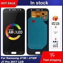 Super AMOLED LCD do Samsung Galaxy J730 J730F J7 Pro 2017 wyświetlacz LCD ekran dotykowy Digitizer zgromadzenie do Samsung J730 wyświetlacz tanie tanio NONE CN (pochodzenie) Pojemnościowy ekran 3 For SAMSUNG Galaxy J7 2017 J7 Pro J730 J730F LCD LCD i ekran dotykowy Digitizer