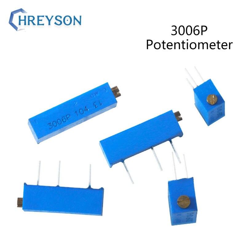 10Pcs 3006P Trimpot Trimmer Potenciômetro 100R 200R 500R 20 10 5 2 1K K K K K K 100K 200K 500K 1 50 M 3006P-1-103LF 201LF 104LF 3006
