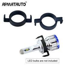 Apmatauto 2 stücke H7 LED Clip Retainer Adapter Halter Scheinwerfer Birne Für Ford Mondeo Für Peugeot 508 2008 3008 Für citroen