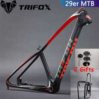 Cadre de vélo en carbone de montagne TRIFOX 15.5/17/19 pouces cadre en carbone vtt 29er cadre de montagne + pince de siège + casque garanties de 2 ans