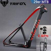 TRIFOX Mountain carbon Bike Frame 15.5/17/19inch MTB Carbon Frame 29er Mountain Frame+Seat Clamp+Headset 2 Year Warranties