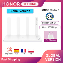 Global Version Original Honor Router 3 Wifi 6+ 3000Mbps Wireless Router Smart Home Router cheap CN(Origin) 1 x10 100Mbps None 2 4G 5G Wi-Fi 802 11g 802 11ac Firewall 225 mm x 159 2 mm x 39 7 mm Support Gigahome dual-core 1 2 GHz