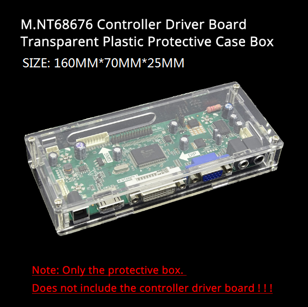 LED/LCD controller driver board transparent Acrylic protective box case For our M.NT68676 TV 2AV EDP controller driver board 2
