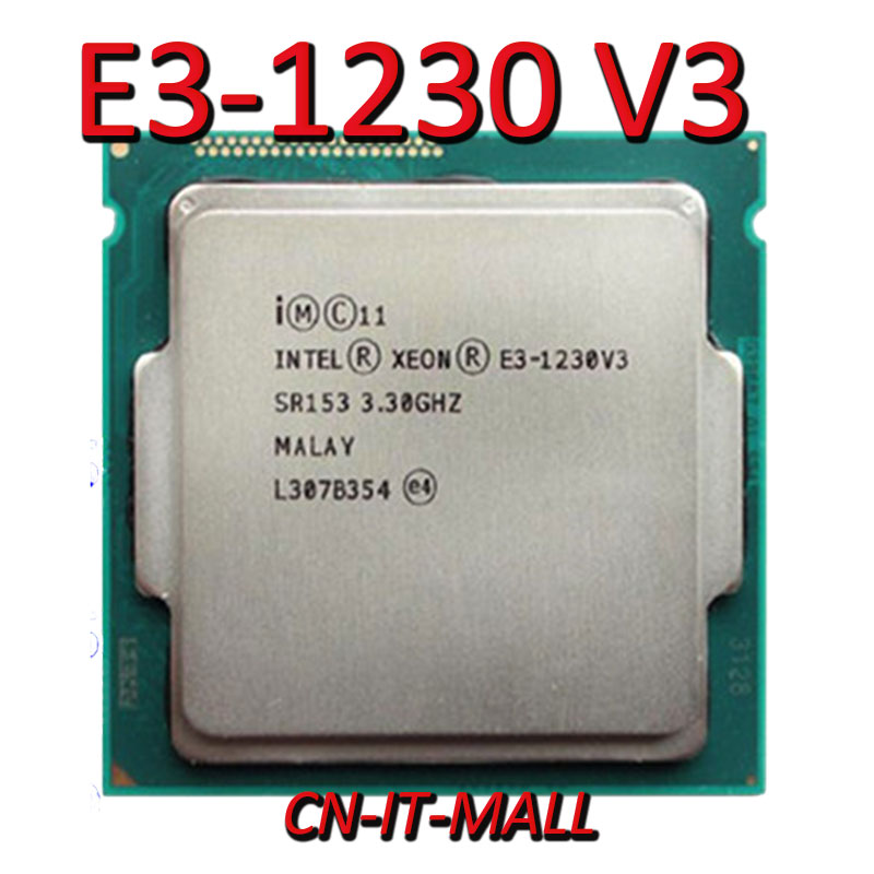 <font><b>Intel</b></font> <font><b>Xeon</b></font> <font><b>E3</b></font>-1230 V3 <font><b>E3</b></font>-<font><b>1230V3</b></font> <font><b>E3</b></font> 1230 V3 CPU 3.3GHz 8M 4 Core 8 Threads LGA1150 Processor image