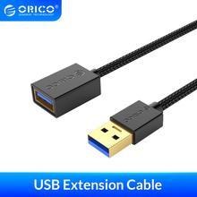 Удлинительный кабель ORICO USB 3,0 2,0, кабель «Мама папа», удлинитель для передачи данных для умных устройств, 0,5 м/1,0 м/1,5 м/2,0 М/3,0 м