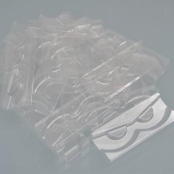 wholesale 100/pack clear lash trays plastic mink lashes holder eyelash tray for eyelash packaging box square case bulk vendors