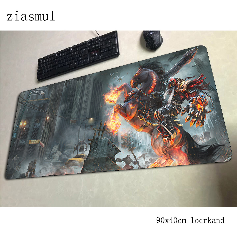 darksiders <font><b>padmouse</b></font> <font><b>900x400x3mm</b></font> gaming mousepad game wrist rest mouse pad gamer computer desk New arrival mat notbook mousemat image