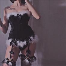 Плюшевый винтажный бархатный Рождественский корсет, Эротическое нижнее белье, чашка Overbust, готические белые корсеты на косточках и бюстье, Хэллоуин, корсет