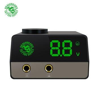 цена на Professional Tattoo Power Mini Dragonhawk Portable LCD Power Tattoo Machine Gun Power Supply Dual Mode Switch