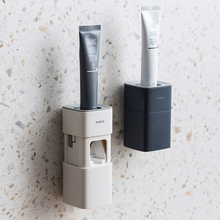 2020 New Design Automatic Toothpaste Dispenser Wall Mount Toothbrush Holder Rack Toothpaste Squeezer Bathroom Accessories Set wall mount dust proof toothbrush holder dispenser hair drier rack automatic toothpaste squeezer dispenser bathroom accessories