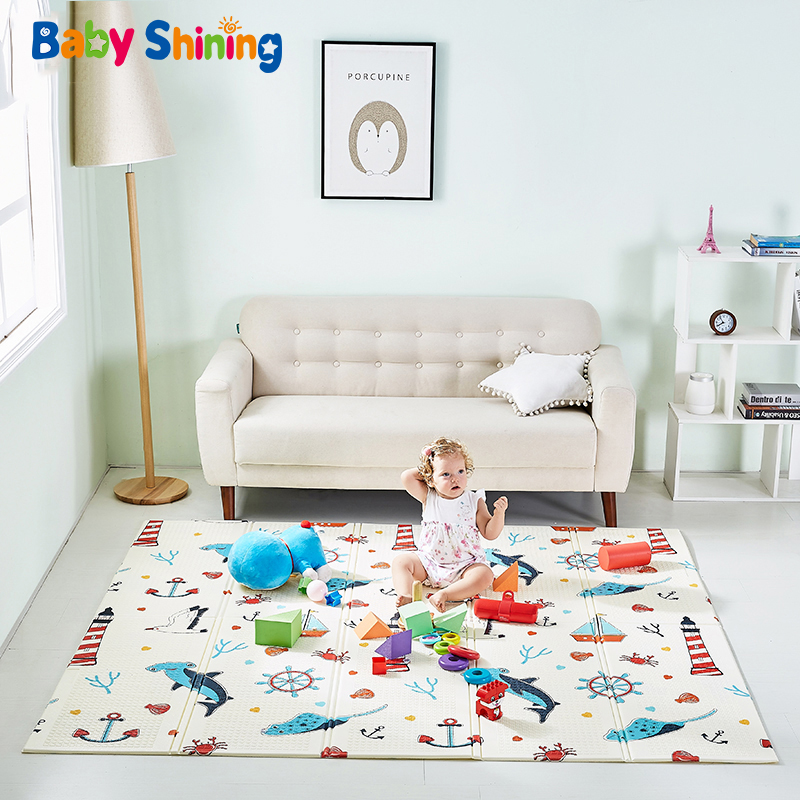 Baby Play Mat XPE 150X200X0.8CM Cartoon Carpet 59X79IN Crawling Mat Waterproof Anti-skid Playmat Living Room Pad