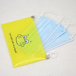 Portable Small Transparent Plastic Storage Bins Holder Mask Case Face Cover Organizer Box Face Shield Reusable Storage Folder