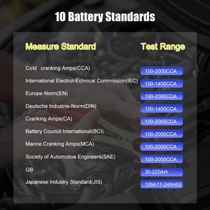 Image 5 - Ancel BA101 12 فولت سيارة جهاز اختبار بطارية 100 2000CCA الرقمية محلل تستر السيارات جهاز اختبار حمل البطارية للسيارة/قارب/دراجة نارية PK KW600