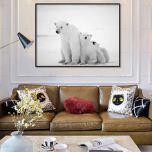 Animal Poster art Hey Art Wall Pictures for Living Room Posters and  Prints Polar bear Canvas Printing Frameless