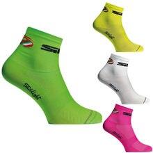 7 cores unissex novas mulheres curto verão ciclismo meias masculino malha respirável esporte correndo calçado de bicicleta