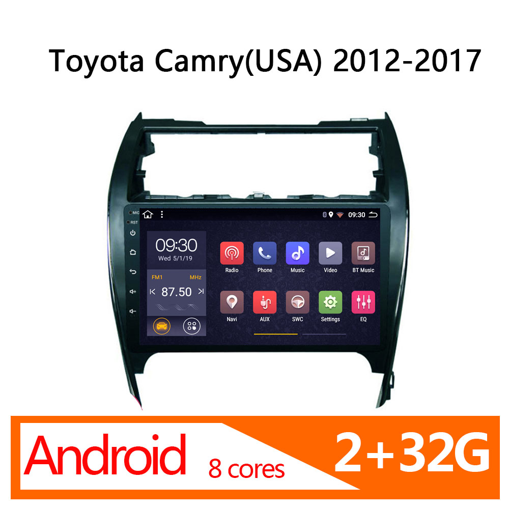 2 32G 8 core android car navigator for toyota camry(usa) <font><b>2012</b></font> 2013 2014 2015 2016 2017 automagnitol radio coche <font><b>multimedia</b></font> auto image