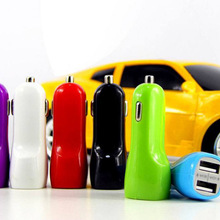 2 pçs/lote Atacado Universal Colorido Mini USB Car Charger para Xiaomi Huawei iPhone 11 12 pro max iPod iTouch HTC Samsung Bla