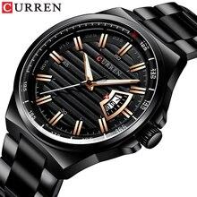 Männer Luxus Marke Quarzuhr CURREN Edelstahl Band Armbanduhr Mode Stil Uhr Mann Auto Datum Relogio Masculino