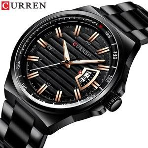 Image 1 - Men Luxury Brand Quartz Watch CURREN Stainless Steel Band Wristwatch Fashion Style Watch Man Auto Date Relogio Masculino