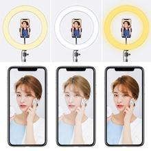 Photo LED Selfie Ring Fill Light 20cm Dimmable Camera Phone 26CM Ring Lamp With Stand Tripod For  Video Live Studio Makeup photography led selfie ring light 26cm dimmable camera phone ring lamp with tripod bluetooth remote for makeup video live studio