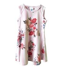 Платья без рукавов с цветочным принтом для маленьких девочек 4 лет; детская одежда; летнее платье принцессы; детское праздничное бальное платье для торжеств; наряд