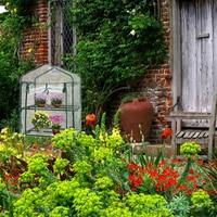 طابقين الأخضر المنزلية مصنع الدفيئة مصغرة حديقة الدافئة غرفة PVC حديقة الدافئة غرفة 92x69x49 سنتيمتر