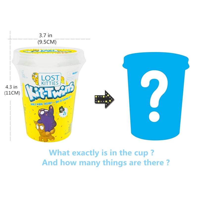 New Shop Lost Kitties Surprise Cup Squishy Colored Clay With Many Cute Styling Kittens Children's Favorite Surprise Toys