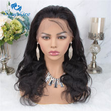 360 Lace Frontal Wig Pre Plucked With Baby Hair Brazilian Body Wave Wig Lace Frontal Human Hair Wigs For Black Women Non Remy Hair(China)
