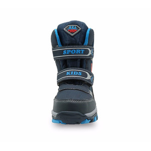 Image 4 - Boys Winter Mid Calf Snow Boots Warm Woolen Plush Childrens Waterproof Hiking Shoes Kids Cold Weather Boot with Cartoon