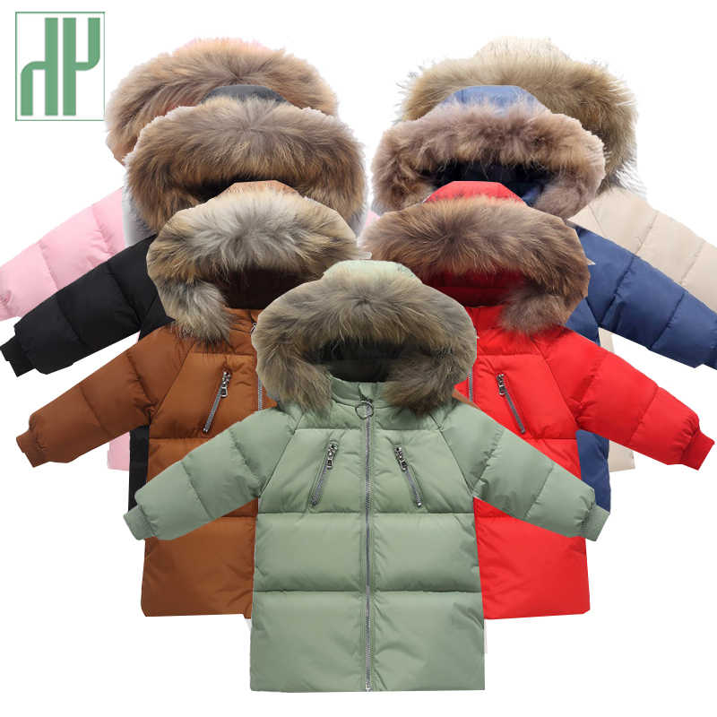 Kids winter jacket Boys girls Fur Parka Warm Jacket Children Clothing Hoodie Outerwear Coat baby Clothes down Jackets snowsuit