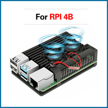 S ROBOT Raspberry Pi 4 4B Metal Case Raspberry Pi Case with Dual Cooling Fan Aluminium Alloy Protection Cases for RPI 4B RPI104 цена 2017