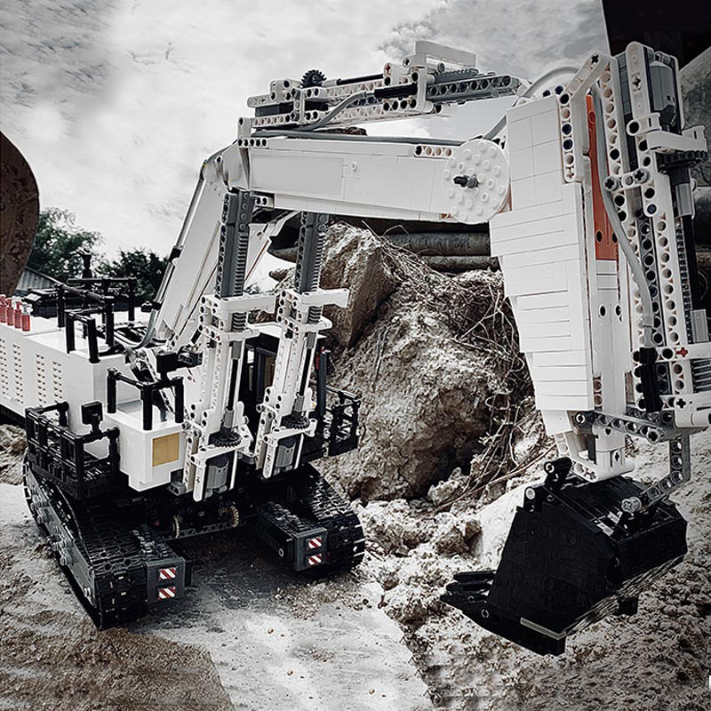 Yeshin 42100 High-Tech Car Model Compatible With 42100 Liebherrs R 9800 Excavator Building Blocks