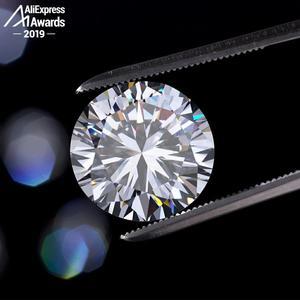 Image 4 - עגול לחתוך S925 סטרלינג כסף טבעת SONA יהלומי Halo טבעת יפה ייחודי סגנון אהבת חתונת אירוסין