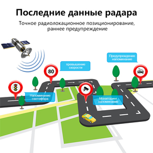 Image 3 - Jansite 레이더 탐지기 미러 3 1 대시 캠 DVR 레코더 antiradar GPS 트래커 속도 감지 러시아 후면 카메라