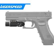 Laserspeed-pistolet à armes tactiques, lumière 450 Lumens, haute production, constante/momentanée/lampe torche stroboscopique, lumière blanche LED, compatible avec Glock 17