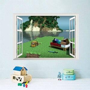 3d Стив и крепкая игра, настенные наклейки для детской комнаты, настенные наклейки для игровой комнаты, детской комнаты, спальни мальчика, настенные художественные наклейки, плакат