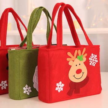 Torby na prezenty świąteczne torba świętego mikołaja świąteczne etui torby na prezenty świąteczne cukierki do dekoracji torby świąteczne świąteczne etui s torby na prezenty tanie i dobre opinie CN (pochodzenie) C6596 Tkaniny Torebki na prezenty i Świeczki