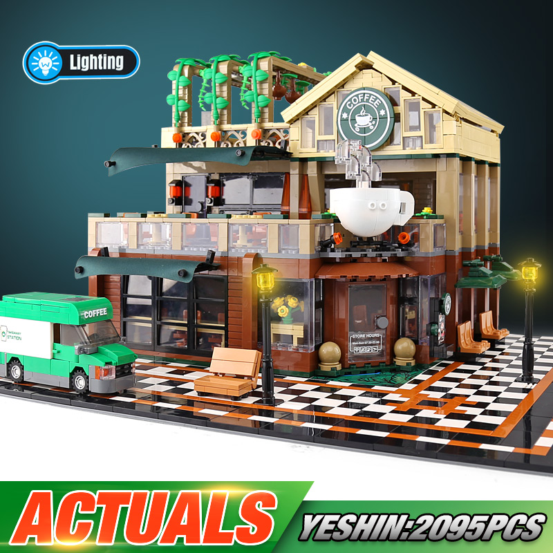 15002 Street Building Toys The Led Lighting Cafe Corner Compatible With Lepining 10182 Building Blocks Brick Kids Christmas Gift