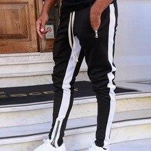 Новые спортивные штаны, Мужские штаны для бега на молнии, спортивные футбольные штаны, тренировочные спортивные штаны, эластичные штаны для...