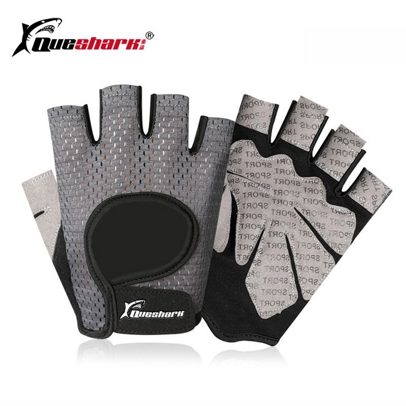 Men Women Anti-slip Weightlifting Gloves Sports Fitness Powerlifting Dumbbell Crossfit Gloves Hand Protector