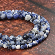 Fashion New Blue Round Beads Loose Jewelry Stone 4/6/8/10 / 12mm Suitable For Making Jewelry DIY Bracelet Necklace