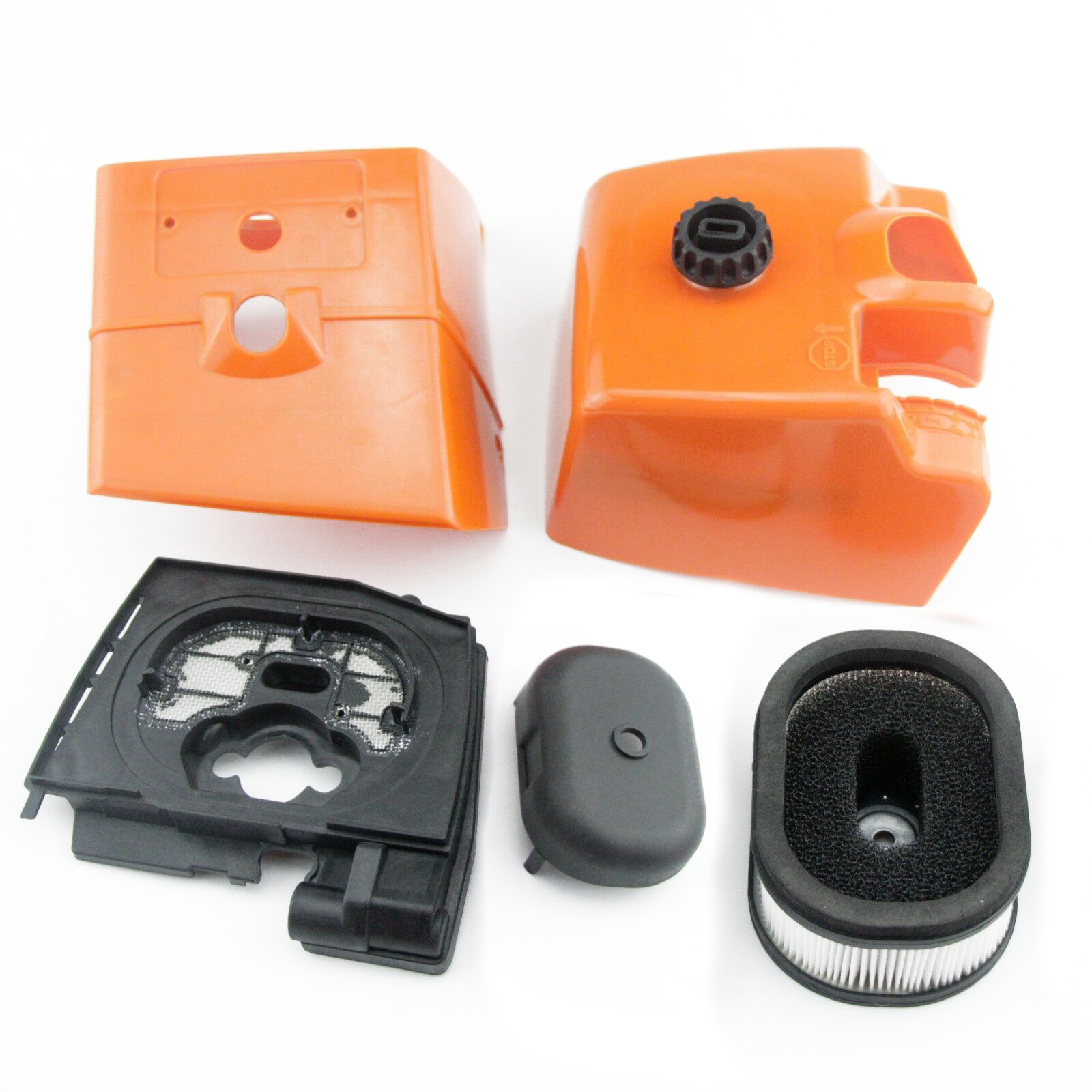 Chain Saw Fuel Tank Engine Air Filter Cover Baffle Kit Replacements For Stihl 046 MS460 Garden Power Tools Parts