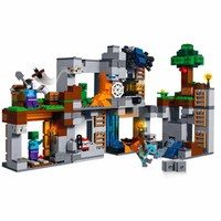 2019 New Assembled Building Blocks Compatible with Legoinglys my world 21147 Rock Low Adventure Minecraftinglys toys children