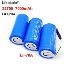 Liitokala lifepo4 lii 70a 32 v 32700 7000mah батарея 35a 55a