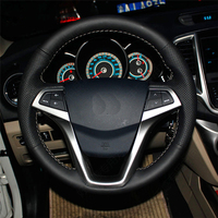 Free Shipping High Quality cowhide Top Layer Leather handmade Sewing Steering wheel covers protect For ChangAn CS35 EADO